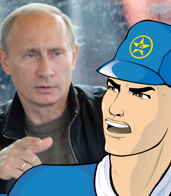 Captain Euro and Putin Discuss Sanctions