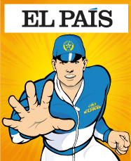 El Pais Newspaper Features Captain Euro on Back Cover (Spanish)
