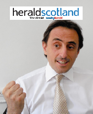 Captain Euro creator featured in The Herald Scotland about Brexit, Scottish Independence and the EU brand.
