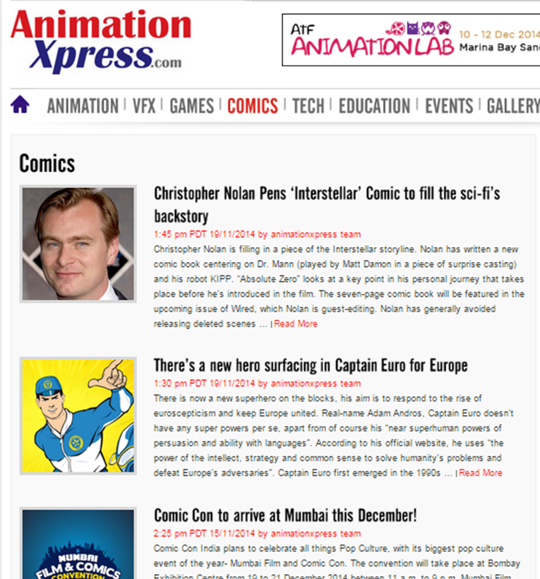 AnimationXpress Article