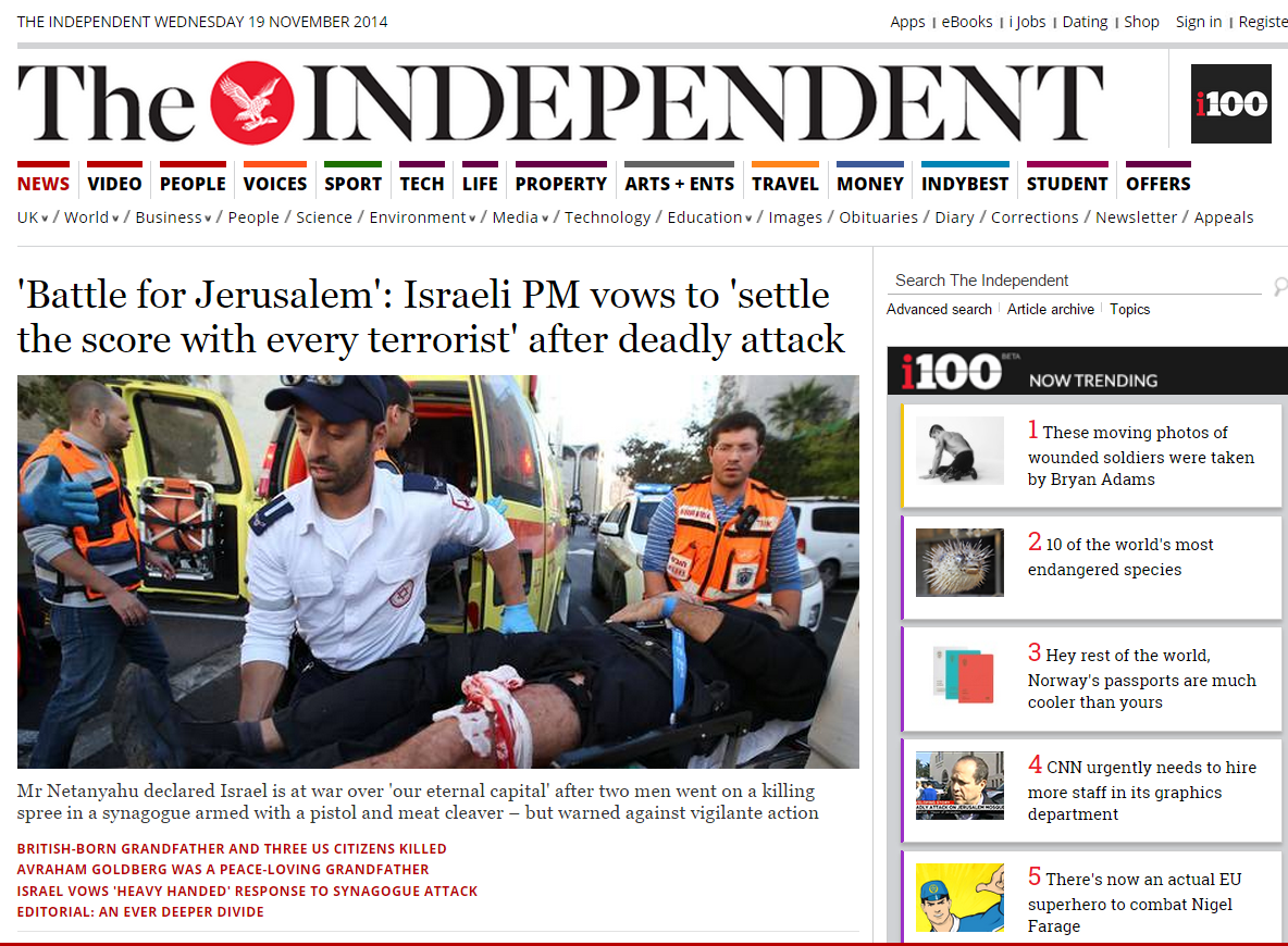 Cover of the Independent