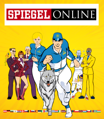 Captain Euro featured on Germany's Der Spiegel Magazine