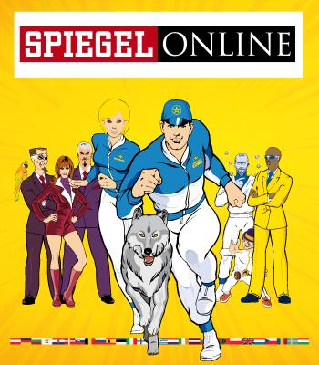 Captain Euro featured on Germany's Der Spiegel Magazine