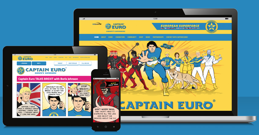 DESANTIX launches Weekly Web Animated Comic Strips of Captain Euro®